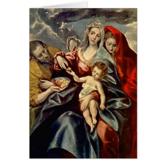 Familia santa del EL Greco- Tarjeta De Felicitación