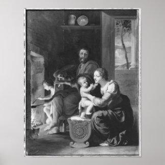 Familia santa, después de 1650 póster