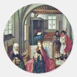 Familia santa en el cuarto con Ana y Joaquín por N Etiqueta Redonda