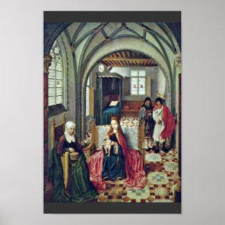 Familia santa en el cuarto con Ana y Joaquín por N Póster
