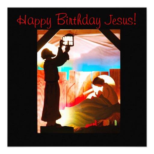 Familia santa - feliz cumpleaños Jesús Comunicado Personalizado