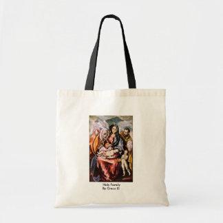 Familia santa por el EL de Greco Bolsa Tela Barata