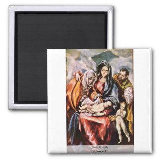 Familia santa por el EL de Greco Imán