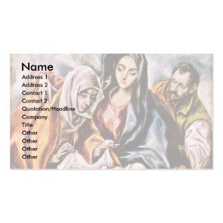 Familia santa por el EL de Greco Tarjeta De Visita