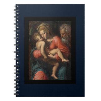 Familia santa por los carpos de Girolamo DA Libros De Apuntes