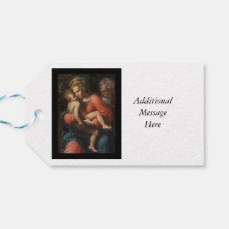 Familia santa por los carpos de Girolamo DA Etiquetas Para Regalos