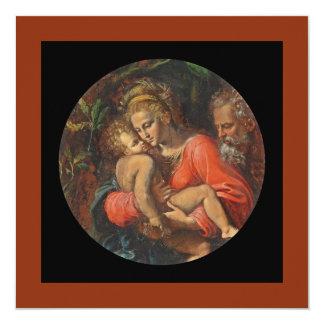 """Familia santa por los carpos de Girolamo DA Invitación 5.25"""" X 5.25"""""""