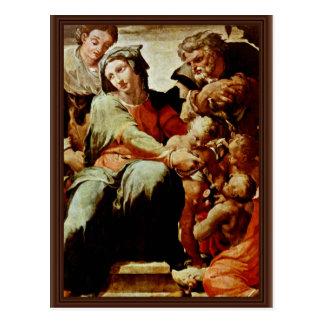 Familia santa, por Tibaldi Pellegrino (la mejor ca Tarjeta Postal