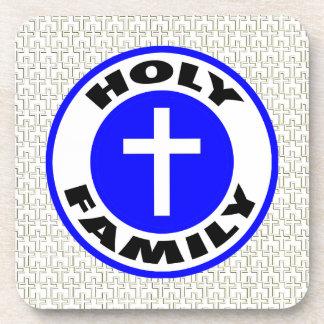 Familia santa posavasos de bebida