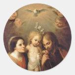Familia santa - Sacrada Familia Pegatina Redonda
