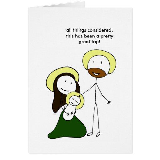 Familia santa tarjeta de felicitación