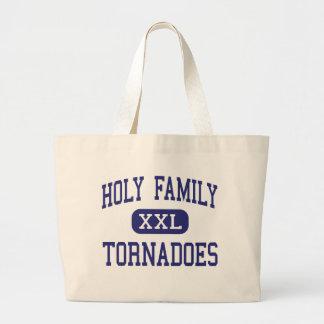 Familia santa - tornados - alta - Birmingham Bolsa Tela Grande