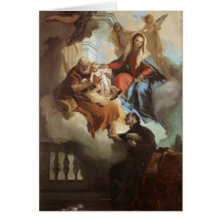 Familia Tiepolo-Santa de Juan que aparece en Visio Felicitacion