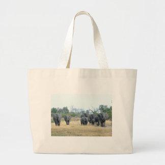 Familia Tom Wurl del elefante Bolsa De Tela Grande