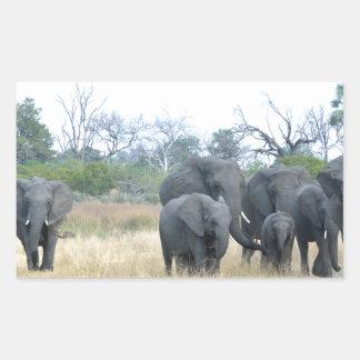 Familia Tom Wurl.jpg del elefante Pegatina Rectangular