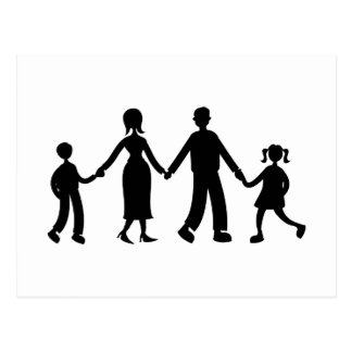 Familia unida tarjeta postal