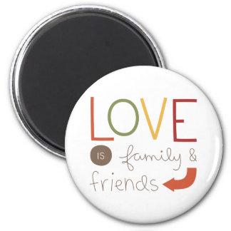 familia y amigos iman para frigorífico
