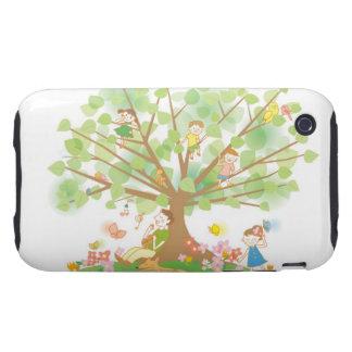 Familia y árbol iPhone 3 tough coberturas