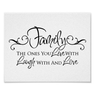 Familia y cita del amor póster
