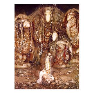 Familia y princesa del duende postal