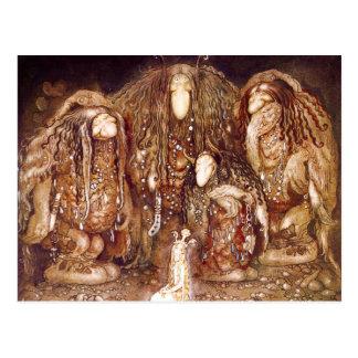 Familia y princesa del duende tarjetas postales