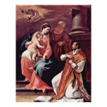Familia y St Ignatius santos de Loyola por el SE d Membrete