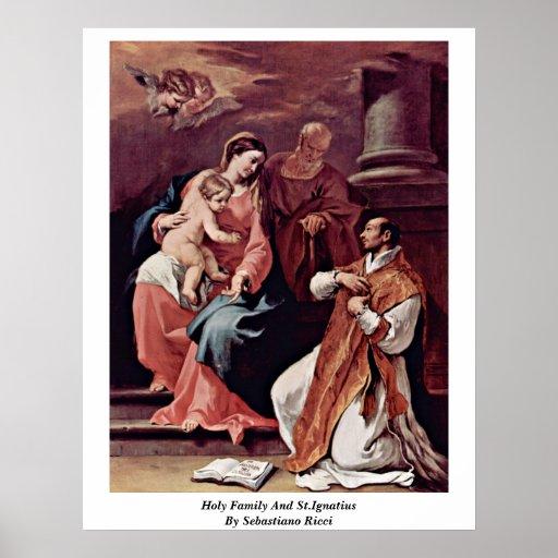 Familia y St Ignatius santos de Sebastiano Ricci Impresiones