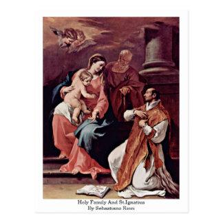 Familia y St Ignatius santos de Sebastiano Ricci Postales