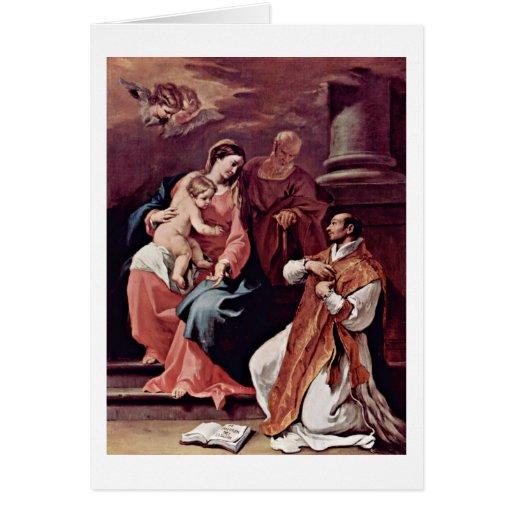 Familia y St Ignatius santos de Sebastiano Ricci Tarjeta De Felicitación