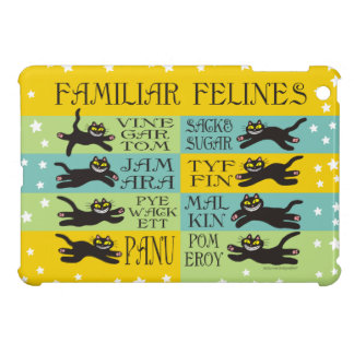 Familiar Felines in Yellow, Mint, and Teal iPad Mini Case