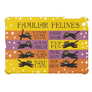 Familiar Felines in Yellow, Orange, and Purple Cover For The iPad Mini