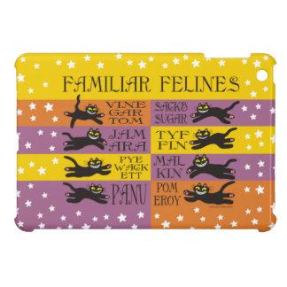 Familiar Felines in Yellow, Orange, and Purple iPad Mini Case