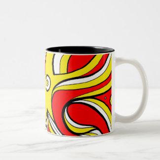 Familiar Grin Hearty One Two-Tone Coffee Mug