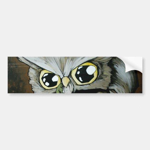 Familiar Owl Car Bumper Sticker