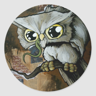 Familiar Owl Classic Round Sticker