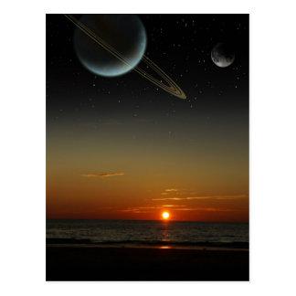 Familiar Sky Postcard