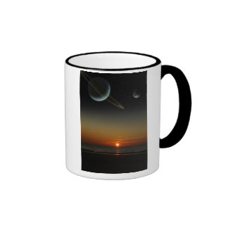 Familiar Sky Ringer Mug