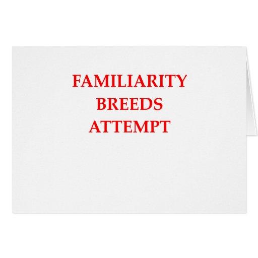 familiarity greeting card