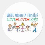 Familias gay pegatinas redondas