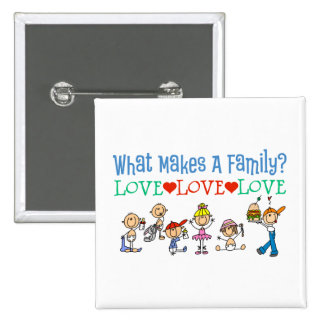Familias gay pin cuadrada 5 cm