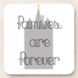 families are forever mormon lds temple beverage coaster