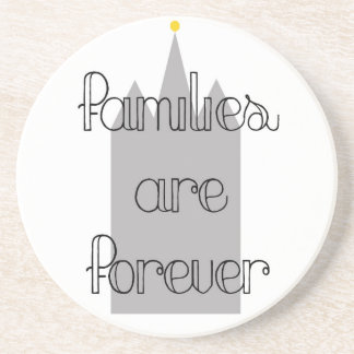 families are forever mormon lds temple drink coaster