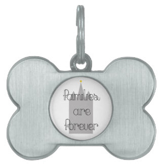 families are forever mormon lds temple pet ID tag