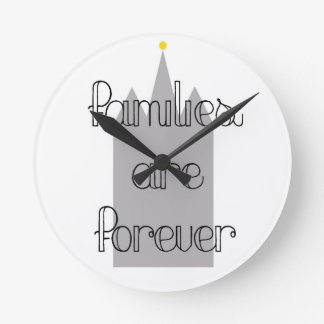 families are forever mormon lds temple round clock