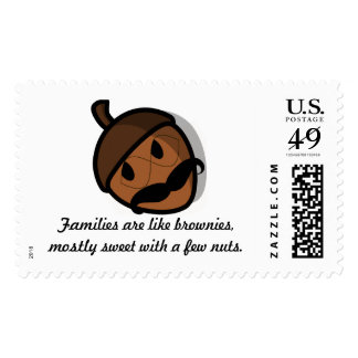 Families are like brownies Postage Stamp