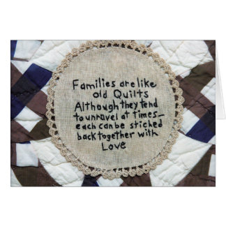 Families Are Quilts Card