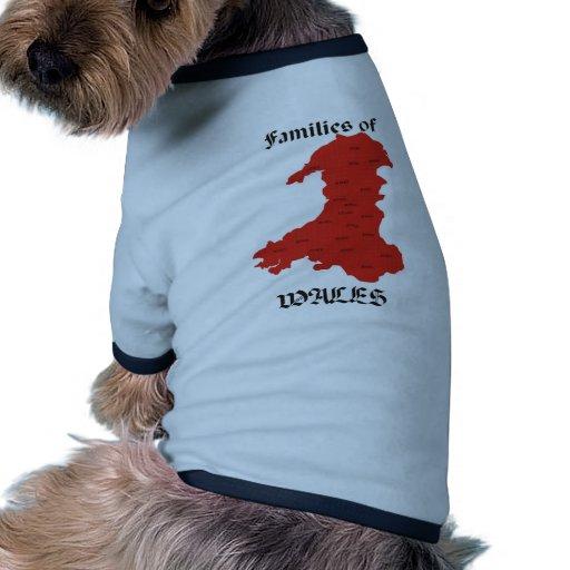 Families of Wales Pet Tee Shirt