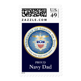 Families on Duty Seal (customized) Postage Stamp
