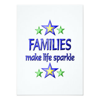 Families Sparkle Personalized Invitations