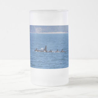 Families Stick Together Frosted Glass Beer Mug